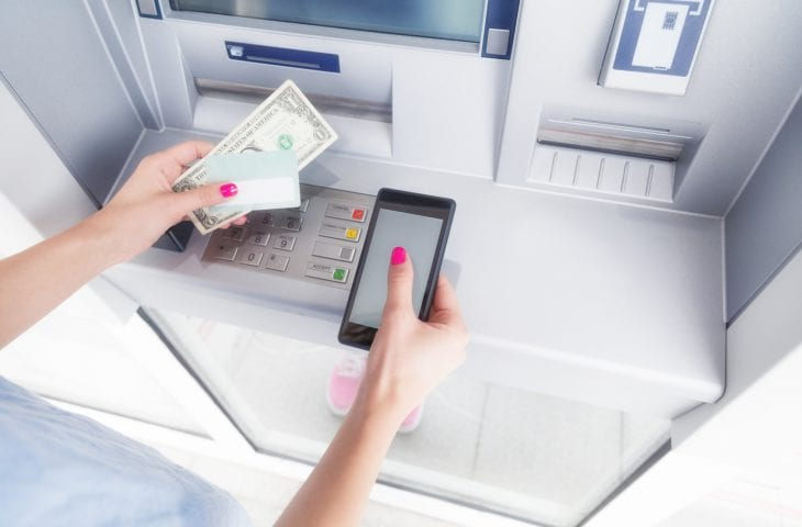 ATM money withdrawal and cellphone technology.