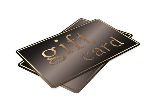 Gift cards, isolated on white