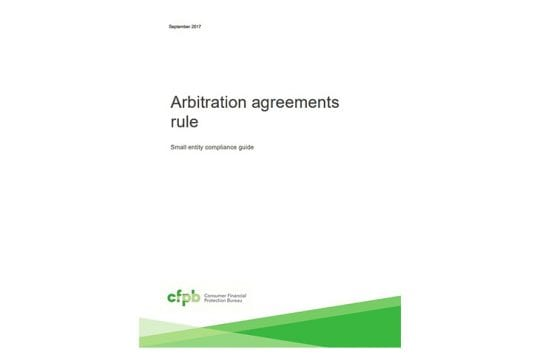 CFPB Arbitration Report Cover