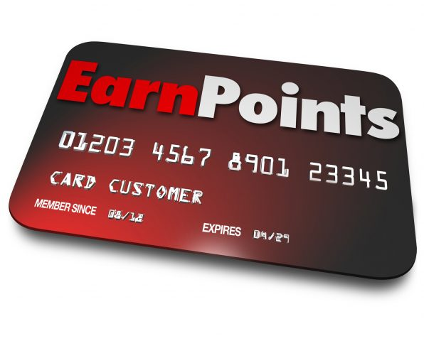 Credit card cryptocurrency reward points