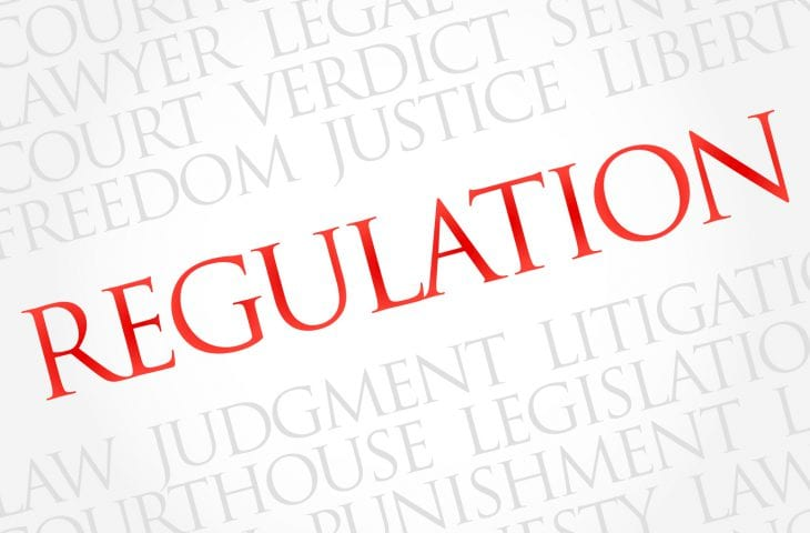 Regulation word cloud concept