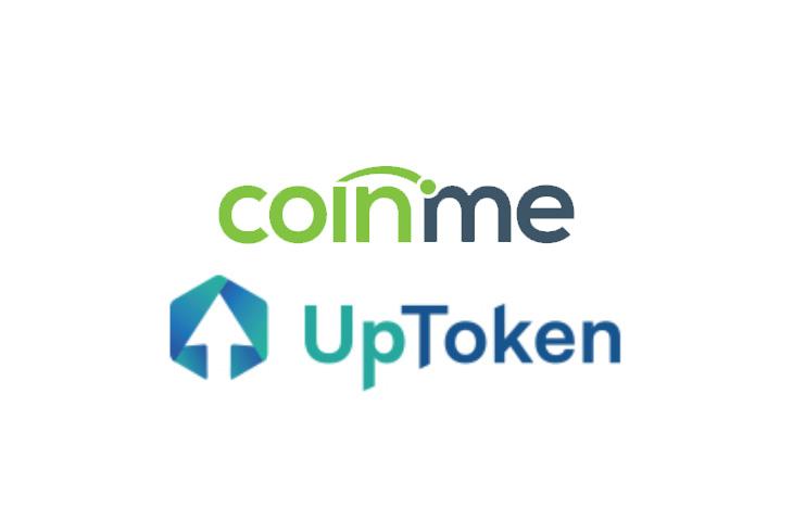Coinme and UpToken logo